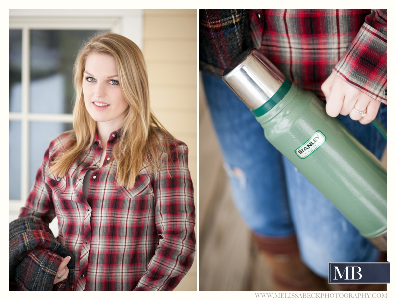 Stanley Thermos Engagement Session Kennebunk Maine