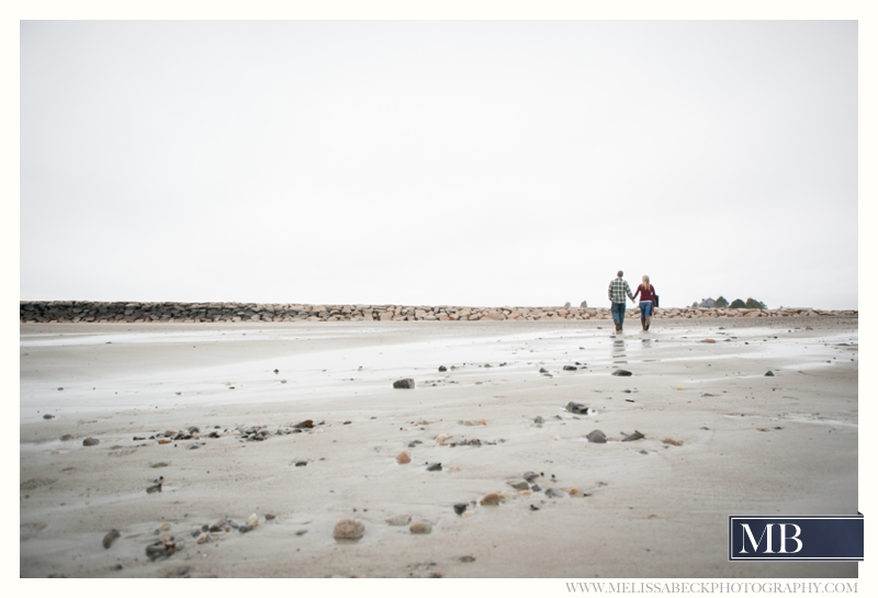 couple on the beach kennebunk maine