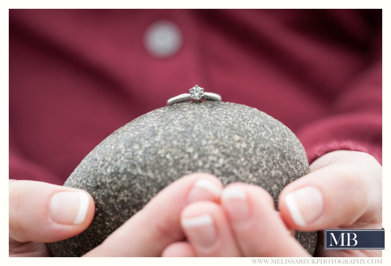 wedding Ring on a rock Kennebunk Maine Photography