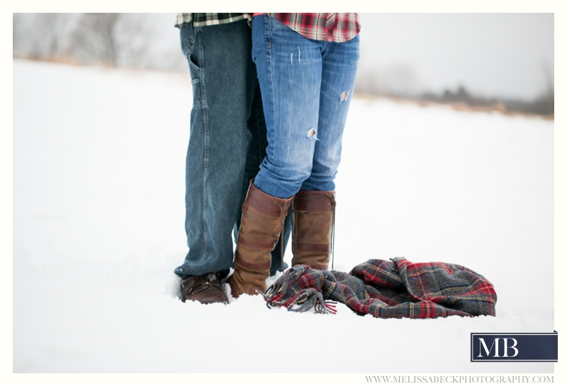 Snow Engagement Picture Kennebunk Maine
