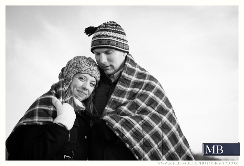 couple in a blanket kennebunkport