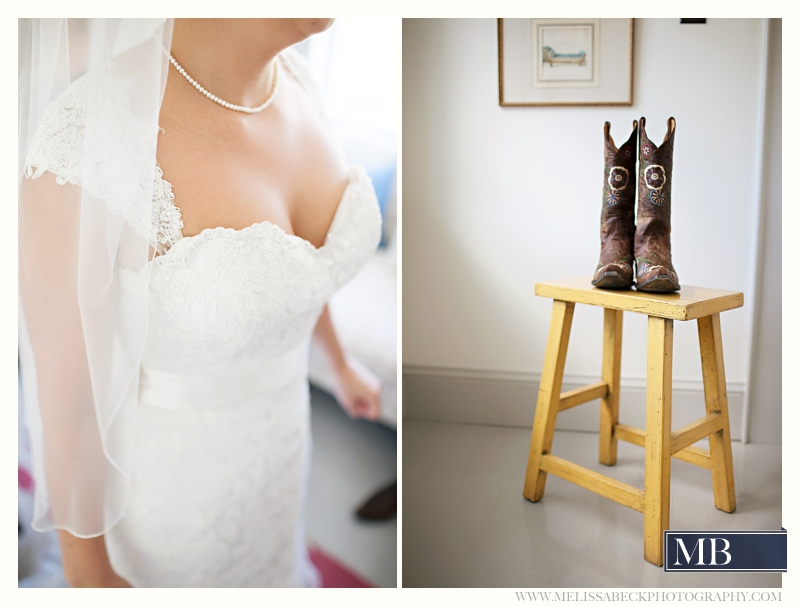 wedding dress and boots