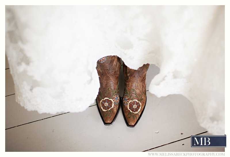 boots with a wedding dress