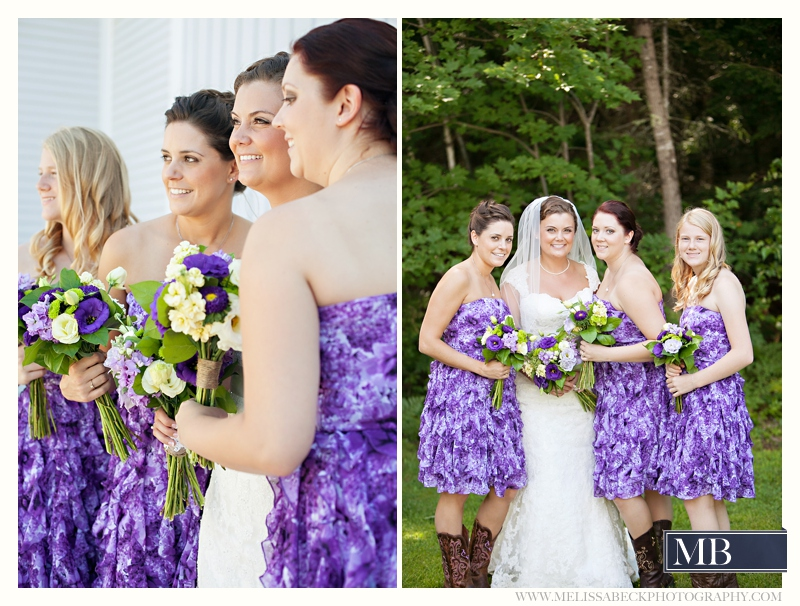 purple brides maids dresses
