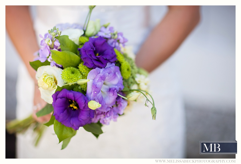 purple floral bouquet
