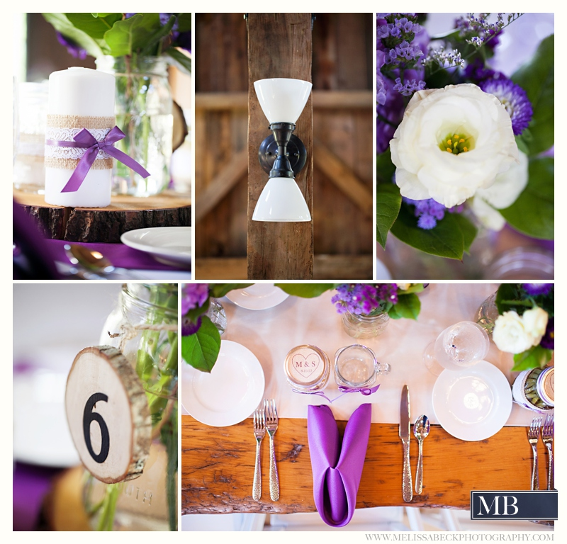 rustic wedding table settings