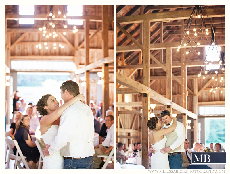 dancing the barn at flanagn farm maine wedding