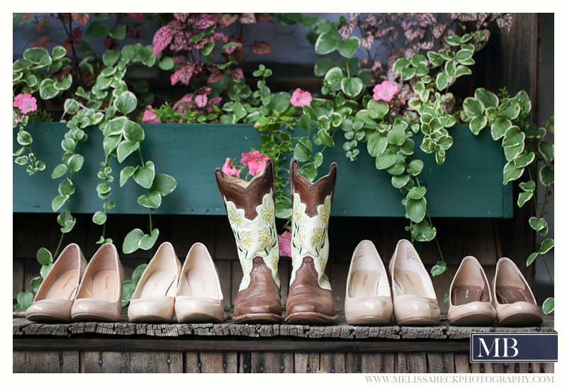 bridal boots with bridesmaids shoes