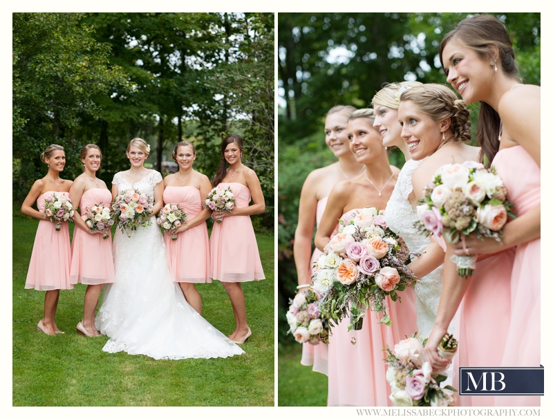 bridesmaids the rocks estate new england wedding photography