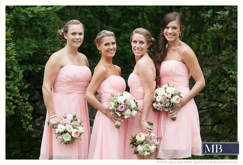 bridemaids the rocks estate new england wedding photography