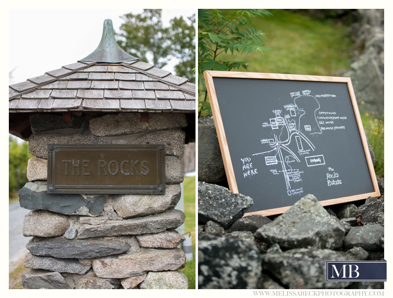 the rocks estate entry sign new england wedding photography