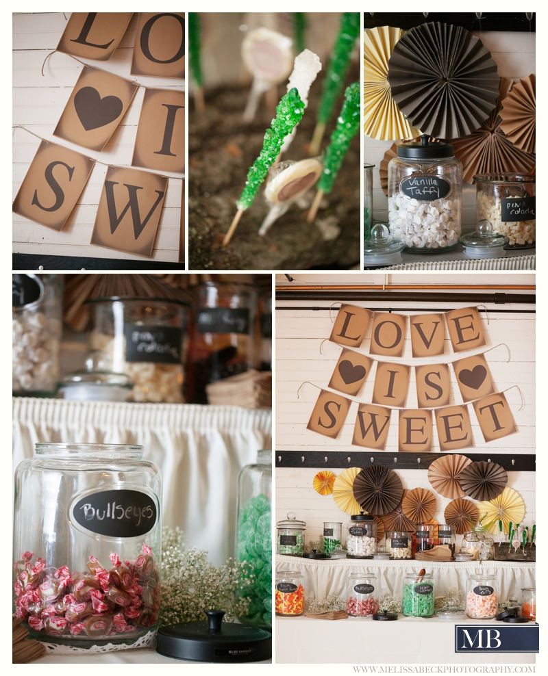 sweet table at a wedding reception