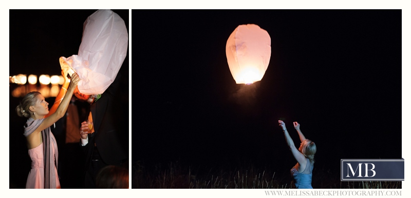 paper lanterns wedding reception