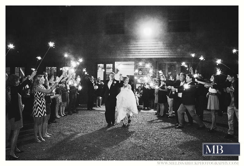 sparkler exit the rocks estate new england wedding photography